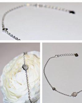 925 silver chamsa/diamante bracelet