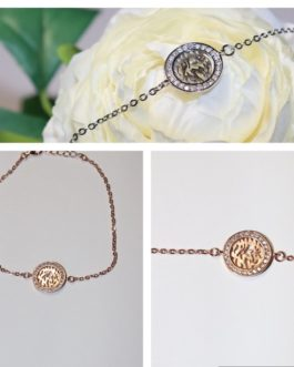 925 Shema exquisitely delicate bracelet wrapped in rose gold/cubic inlay