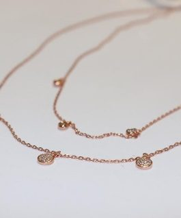 Double chain Rose Gold