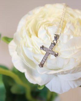 Diamante cross necklace