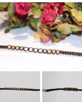 Set of rope link bracelets