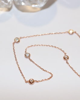 Rose gold/ cubic link