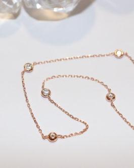 Rose gold/ cubic link
